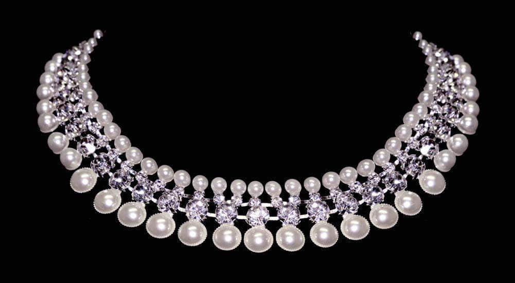 Necklaces - Collars #16557 - The Cleopatra Pearl Collar Statement Necklace