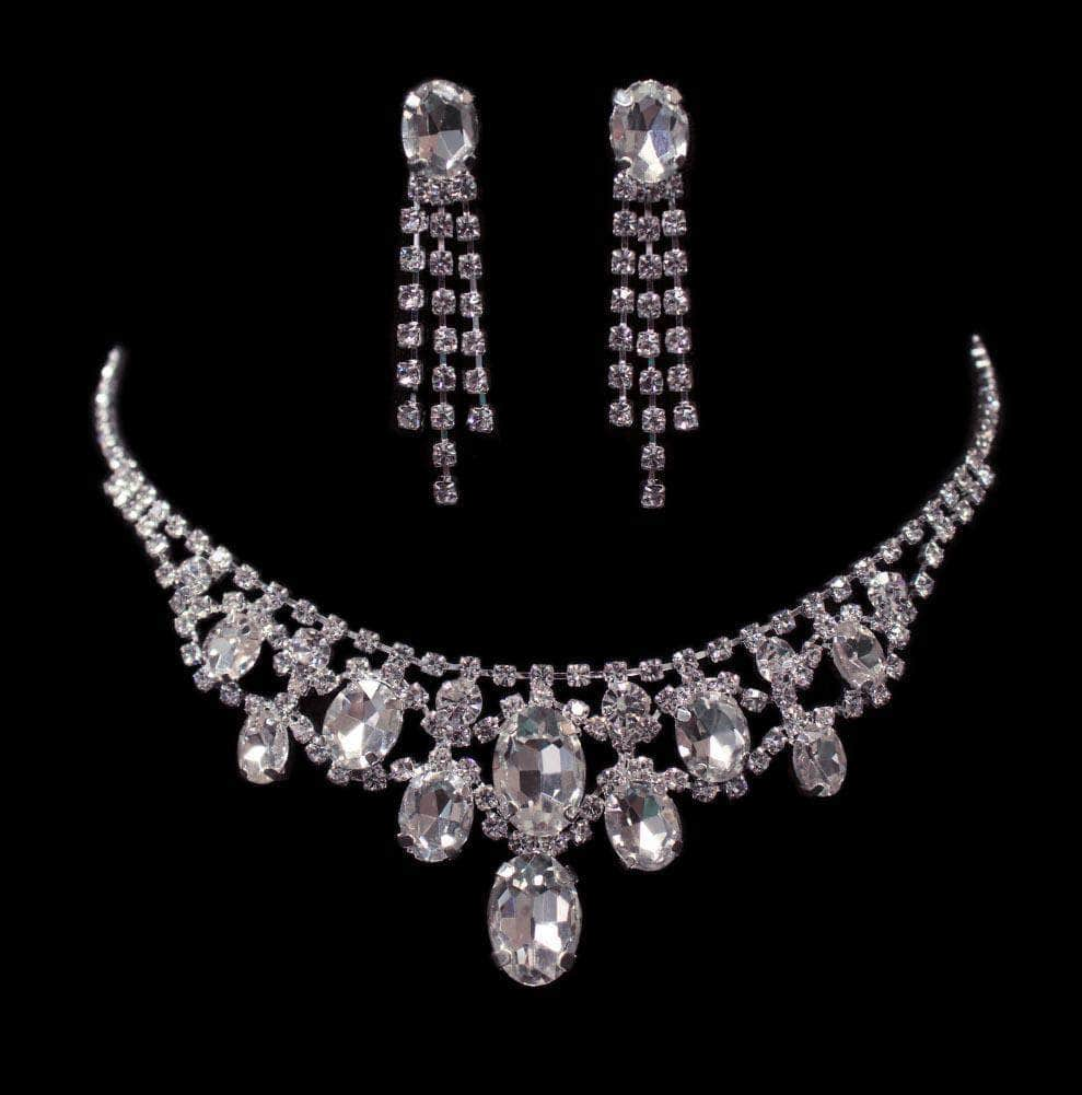 Necklaces - Midsize #16508 - Oval Drape Necklace and Earring Set
