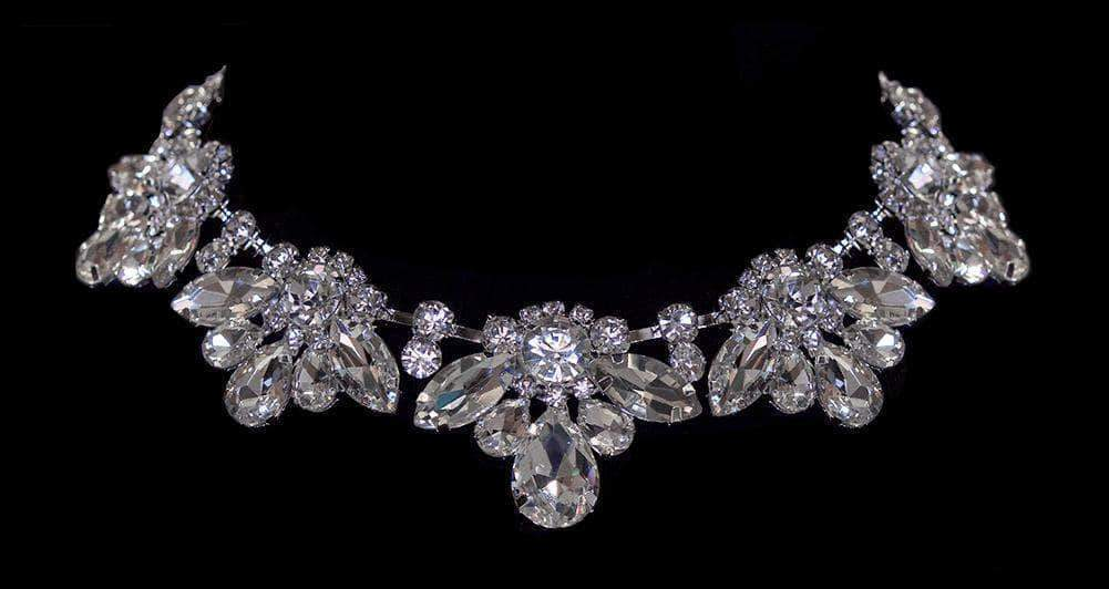 Necklaces - Midsize #16695 - Royal Statement Rhinestone Collar Necklace