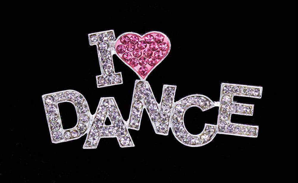 Pins - Dance/Music #16352 - I Love Dance Pin - Pink Heart
