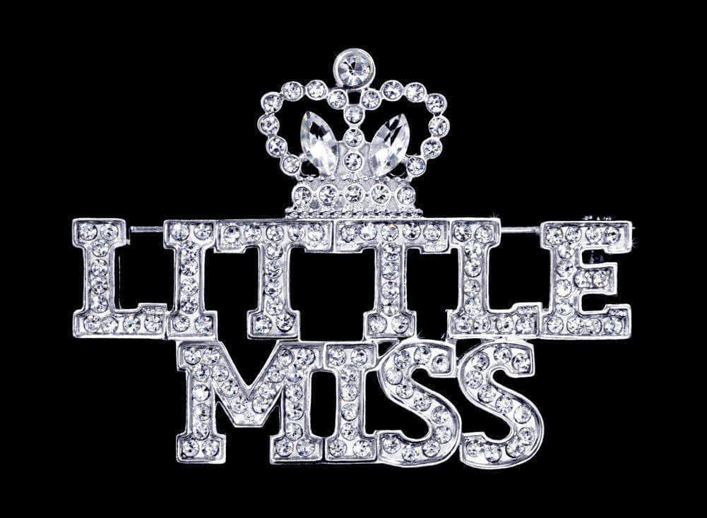 Pins - Pageant & Crown #16391 - Little Miss with Crown Pin