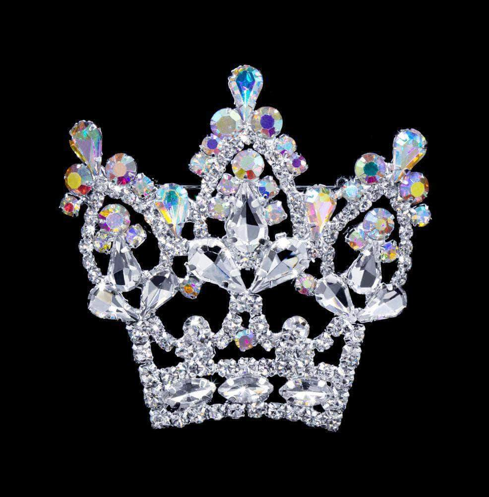Pins - Pageant & Crown #16785abs - AB Arch Crown Pin
