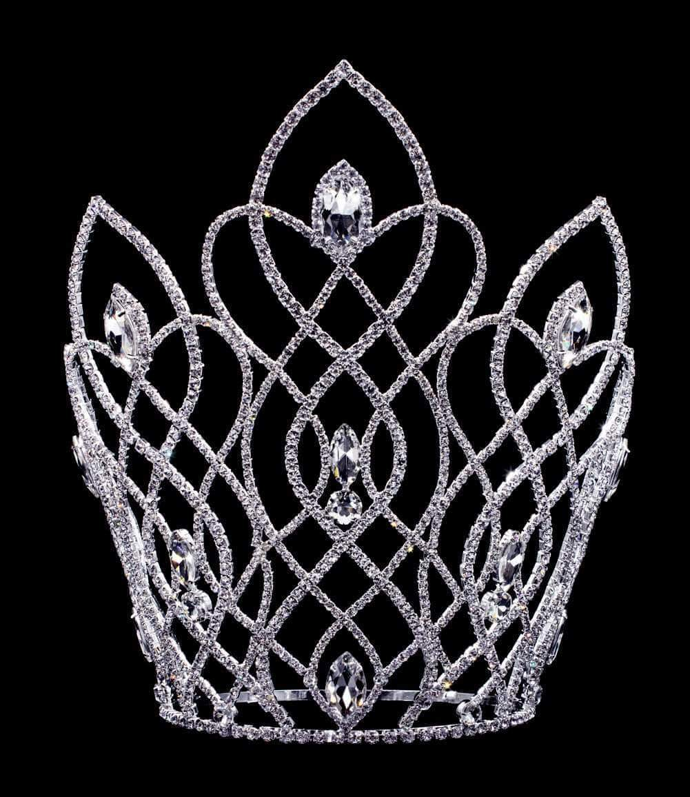 "Tiaras & Crowns over 6"" #16647 Vaulted Navette Adjustable Crown - 11"""