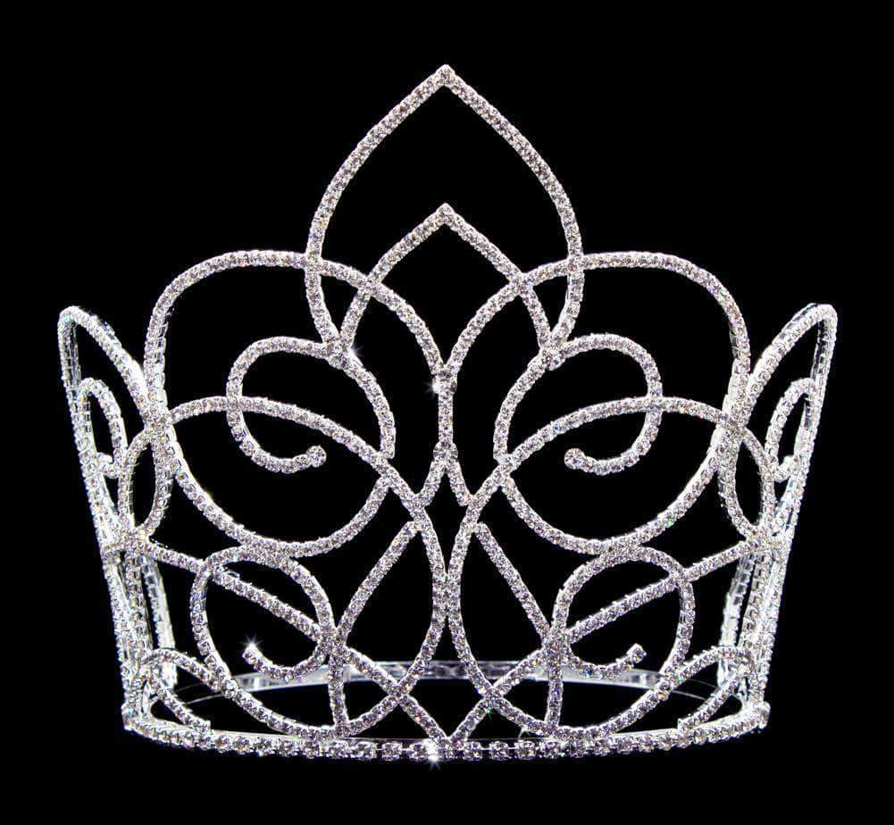 "Tiaras & Crowns over 6"" #16654 - Butterfly Gate Adjustable Crown - 7"" Tall"