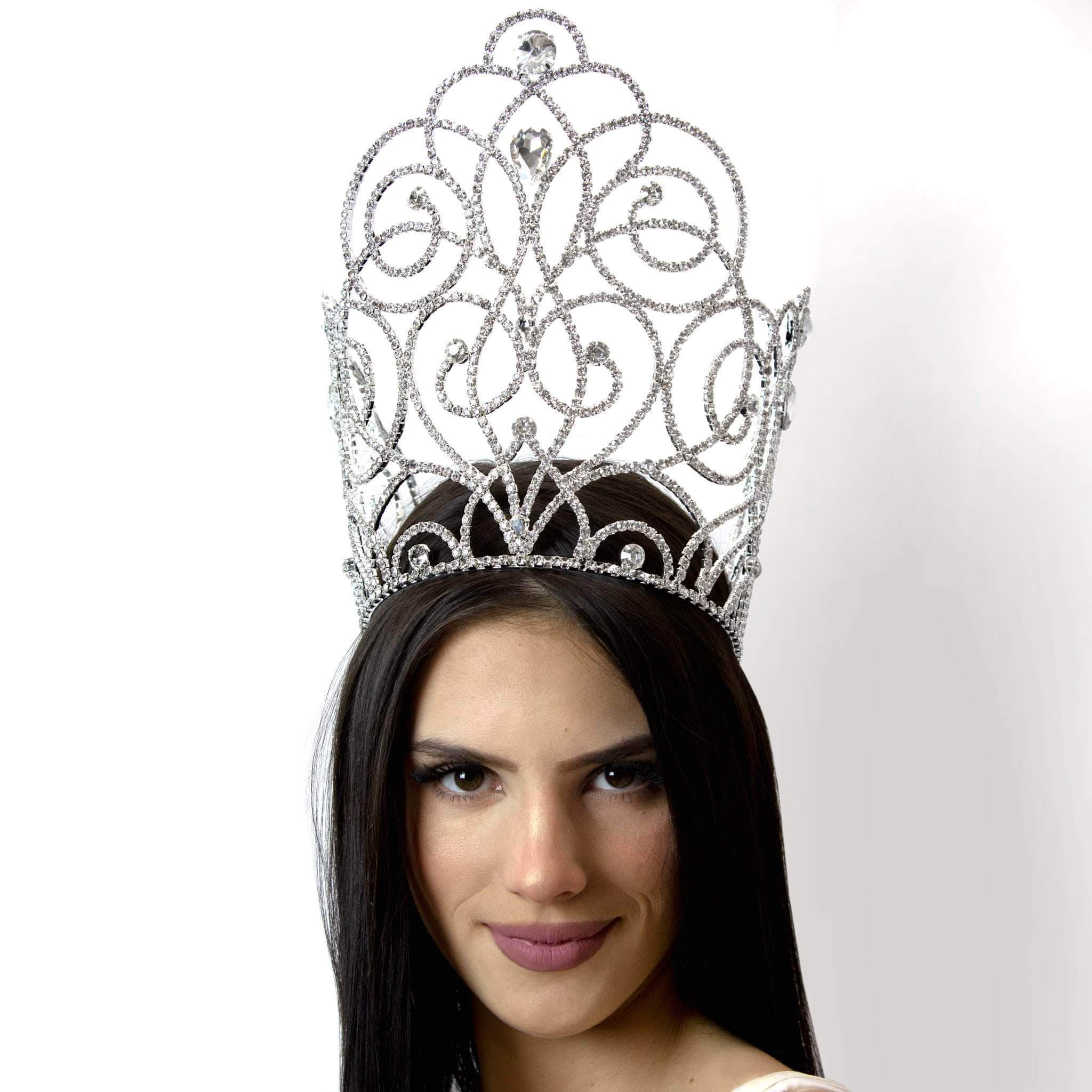 "Tiaras & Crowns over 6"" #16664 - Blooming Twist Adjustable Crown 9"" Tall"