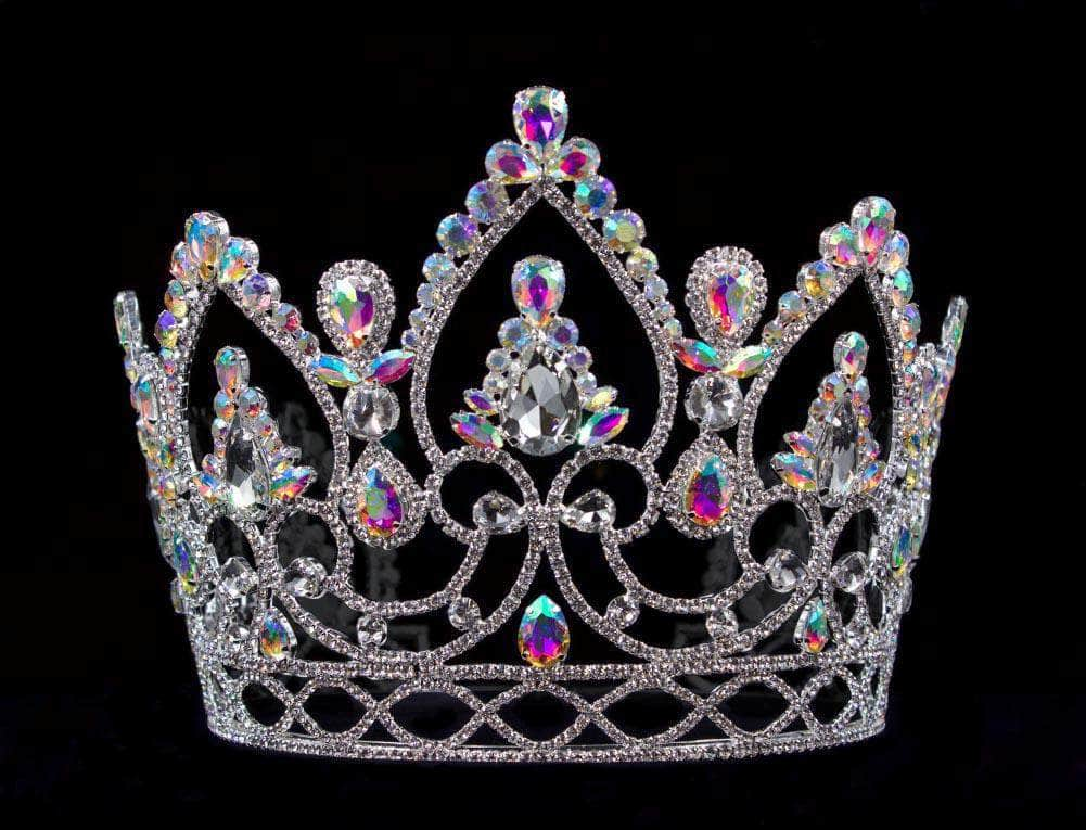 "Tiaras & Crowns up to 6"" #16284abs - AB Arch Crown - 6"""