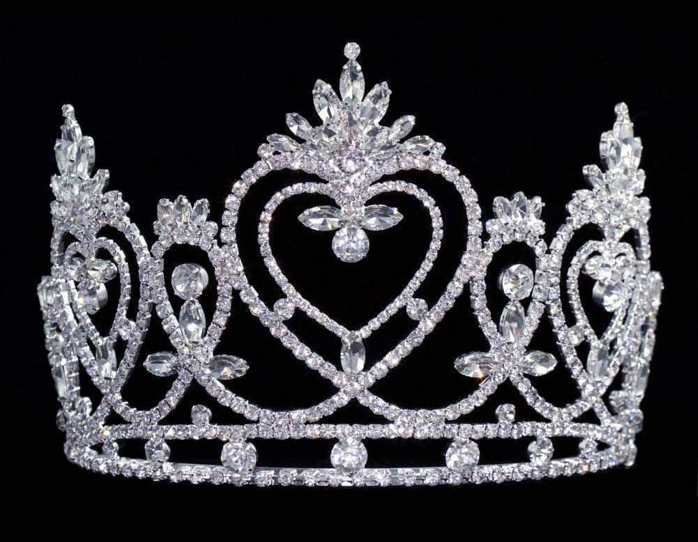 "Tiaras & Crowns up to 6"" #16455 Pageant Praise Tiara with Combs - 5"""