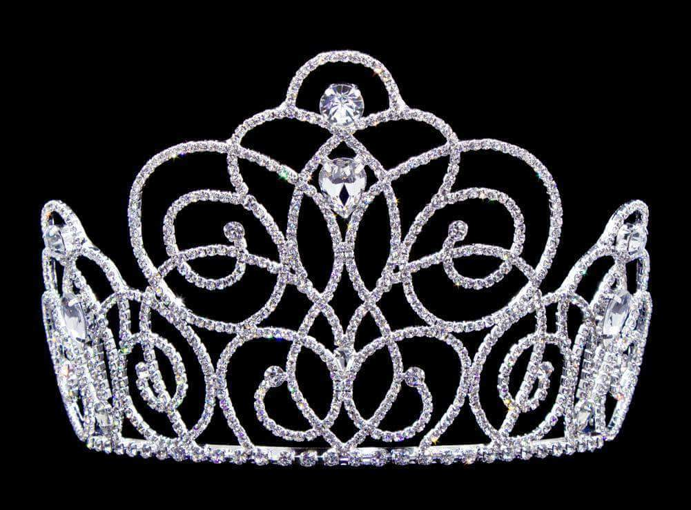 "Tiaras & Crowns up to 6"" #16662 - Blooming Twist Tiara with Combs 5"" Tall"