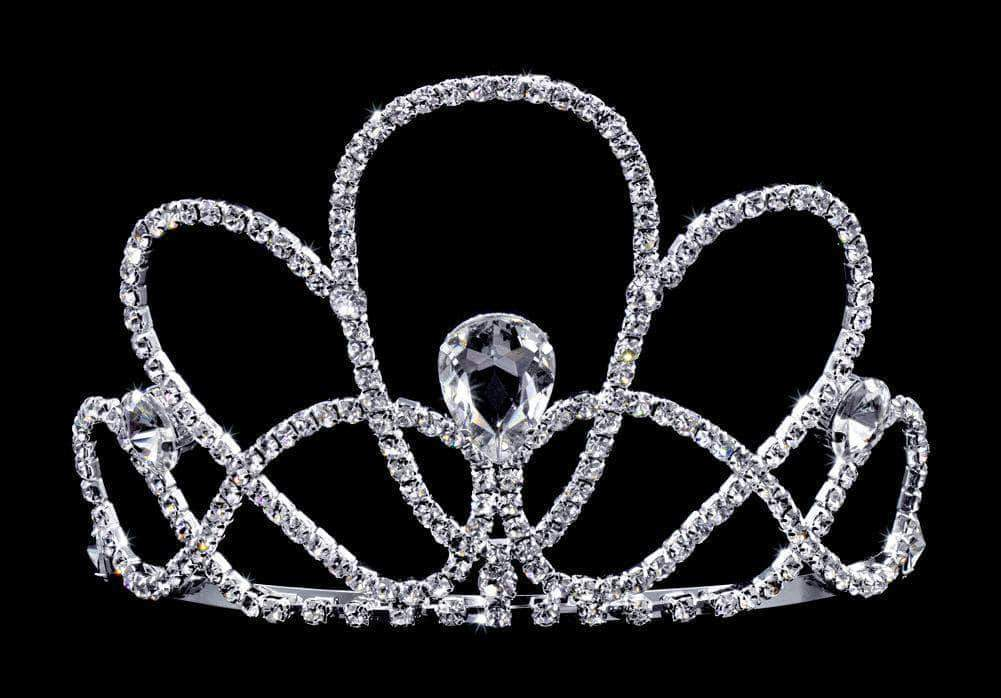 "Tiaras & Crowns up to 6"" #16740 - Seashell Tiara with Combs 3.75"""