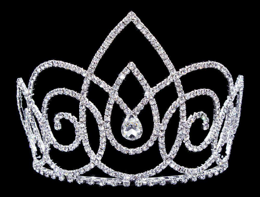 "Tiaras & Crowns up to 6"" #16745 - Resonating Droplets Tiara with Combs - 5"""