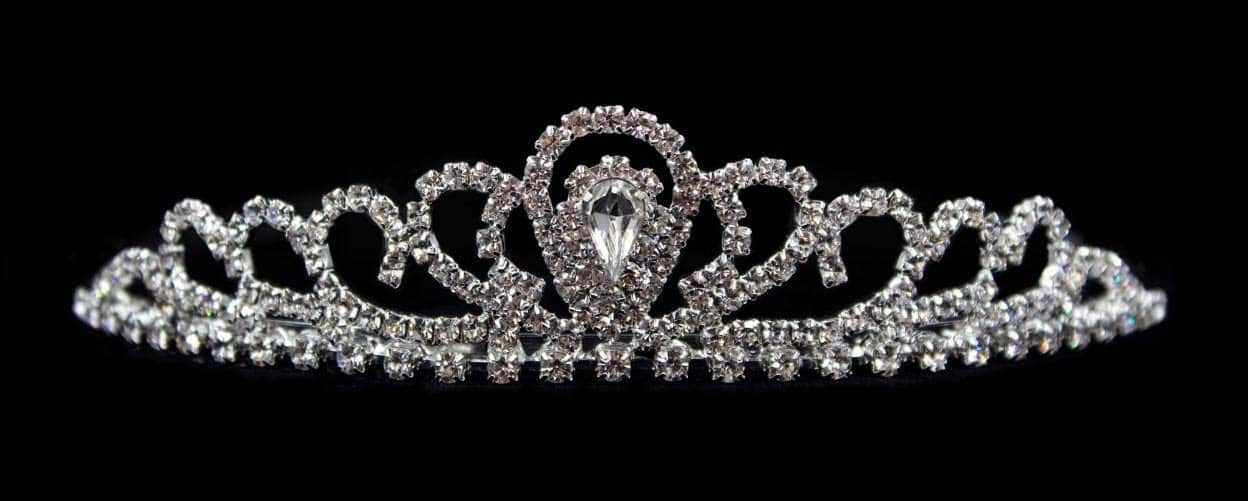 "Tiaras up to 1"" #16501 - Joining Wave Tiara with Combs - 1"""
