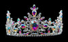 "Tiaras up to 4"" #17134abs AB Snowflake Tiara with Combs 3.5"""