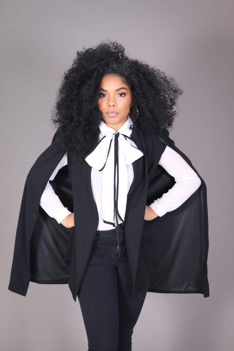 Black Cape Blazer