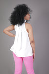 Halter High Neck Bow Top (Ivory)