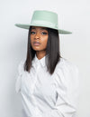 mint green fedora