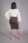 Chocolate Midi Skirt
