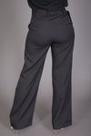 High Waist Wide Leg Pant w/ Belt (Black)
