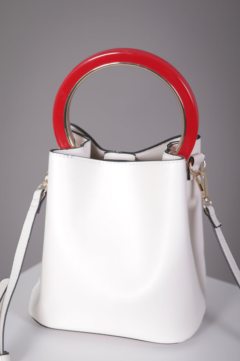 Bucket Bag with Circle Handle