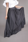 Flare Maxi Skirt w/ Pockets (Black)