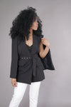 Blazer Cape w/ Belt (Black)