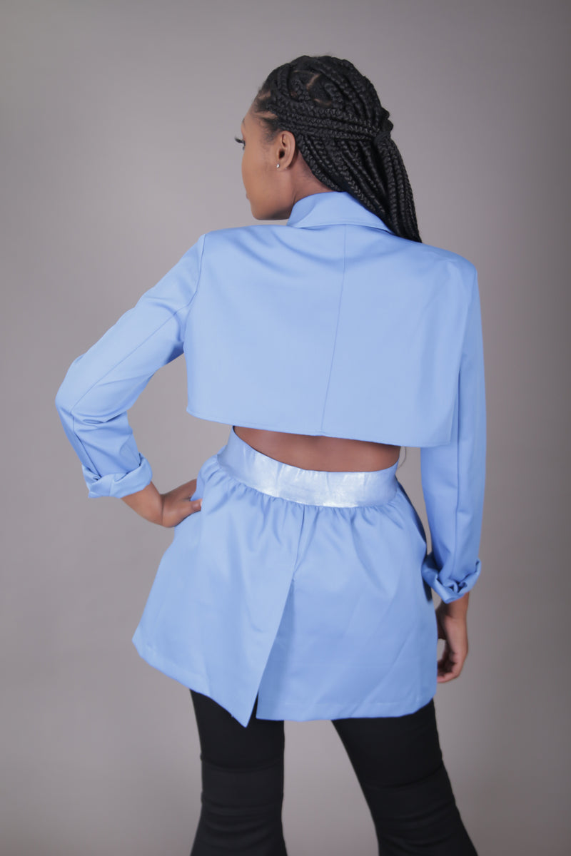 Blue Open Back Blazer