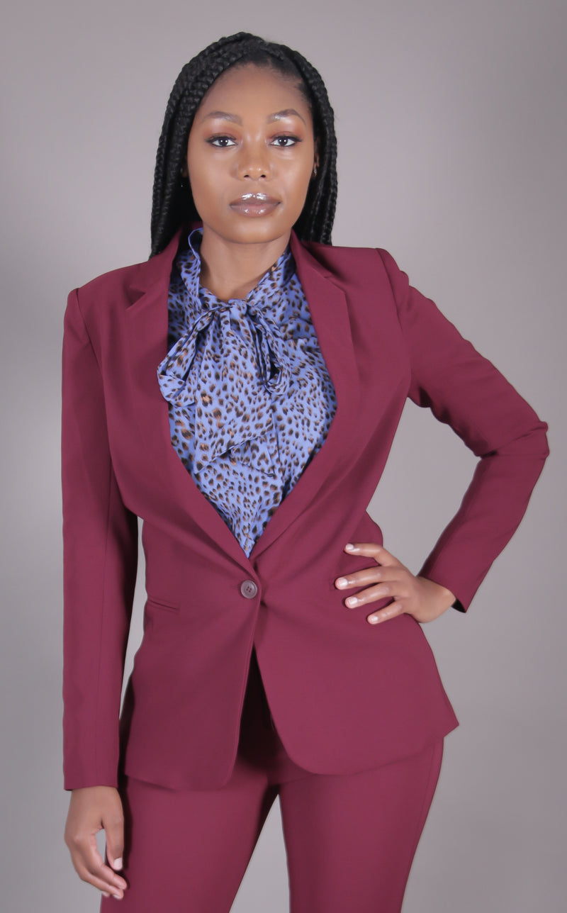 Wine Suit Blazer