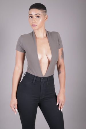 Deep V-Neck Bodysuit