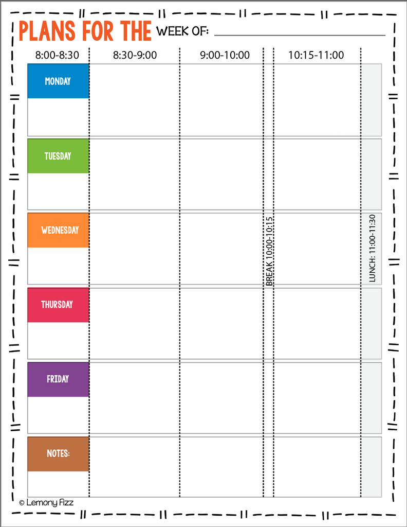 Homeschool Planner with Curriculum Tracker and Daily Lesson Plans