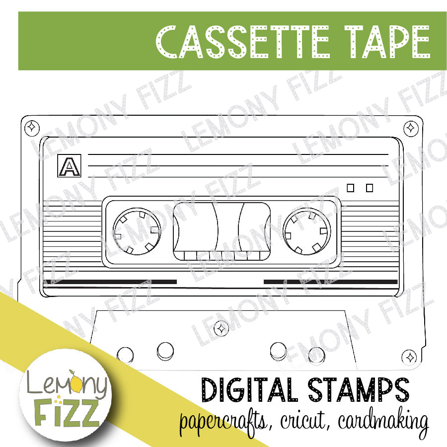 Cassette Tape Digital Stamp