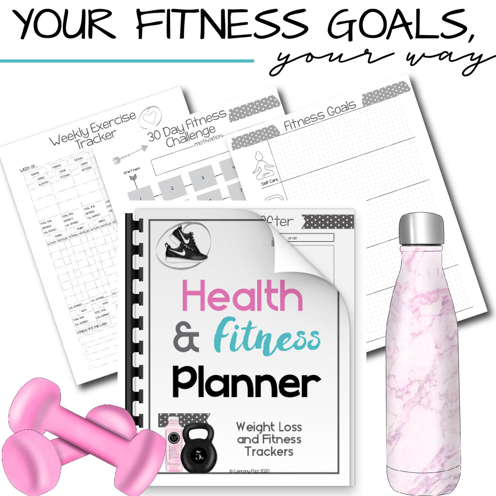 Workout and Fitness Planner Health and Weight Loss Tracker
