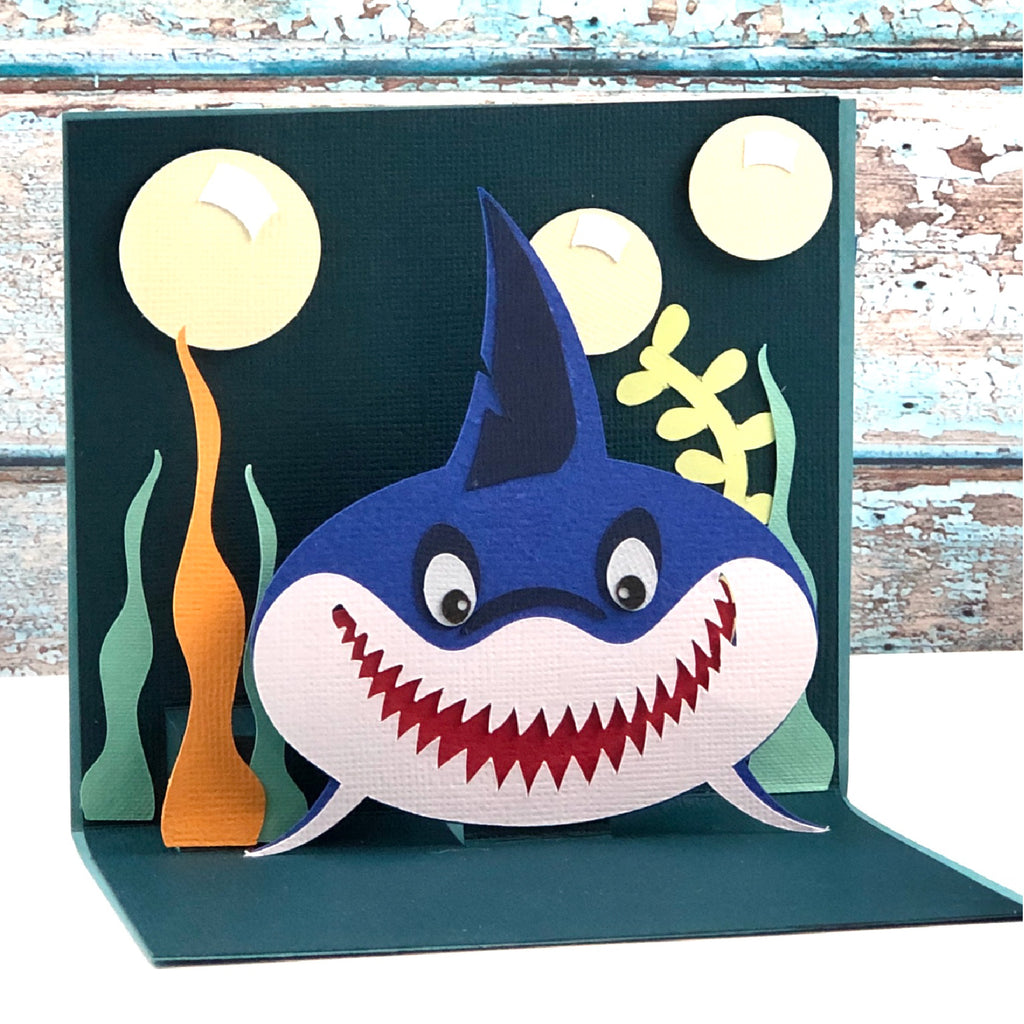 Shark Pop Up Card SVG