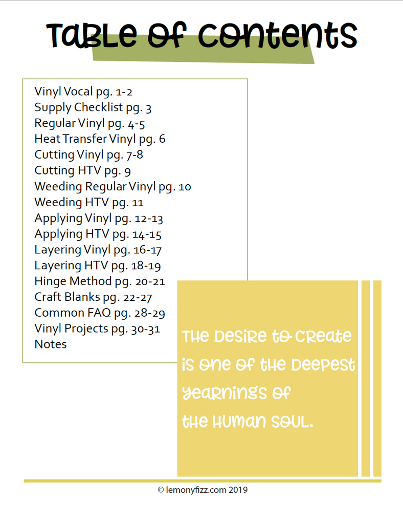 Crafter's Guide to Vinyl