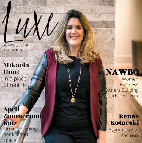 Mikaela Hunt on cover of Luxe Give Back Columbus Ohio Edition