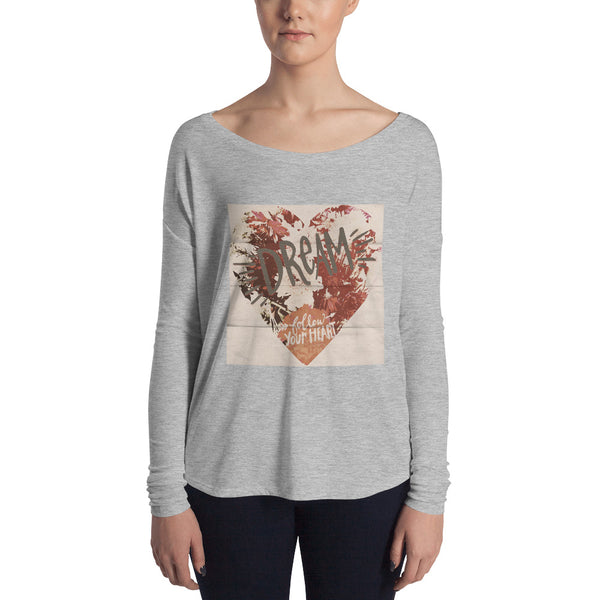 Dream & Heart Art T Ladies' Long Sleeve Tee