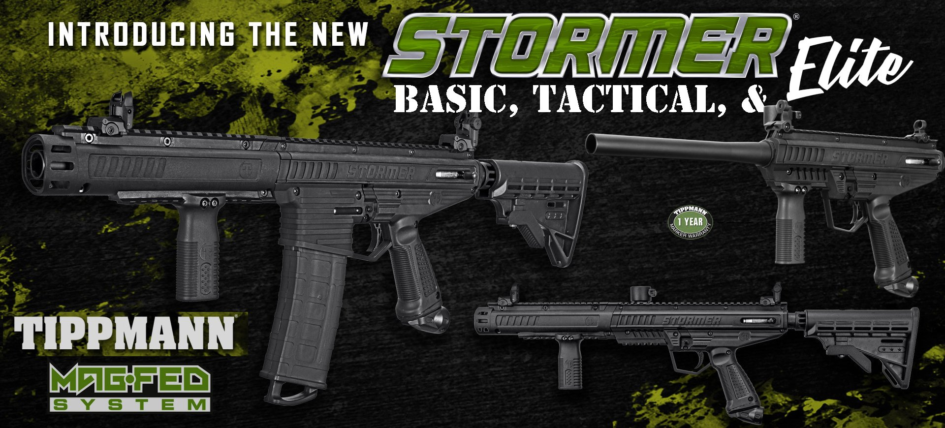 Tippmann STORMER Series Paintball Guns & Packages AVAILABLE NOW! - PaintballDeals.com