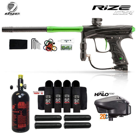 Dye Rize CZR Advanced HPA Paintball Gun Package_BLK_LIME
