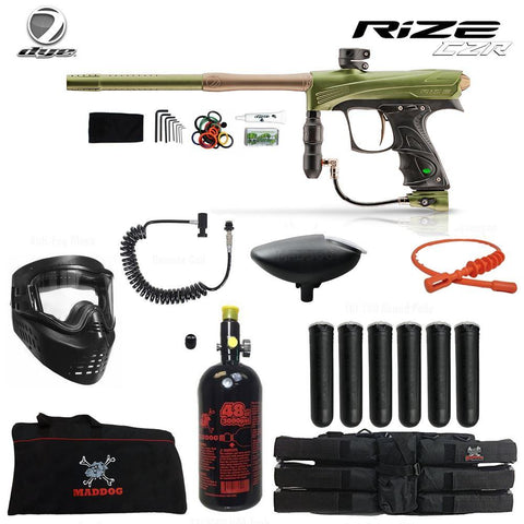 Dye Rize CZR Corporal HPA Paintball Gun Package_ Olive
