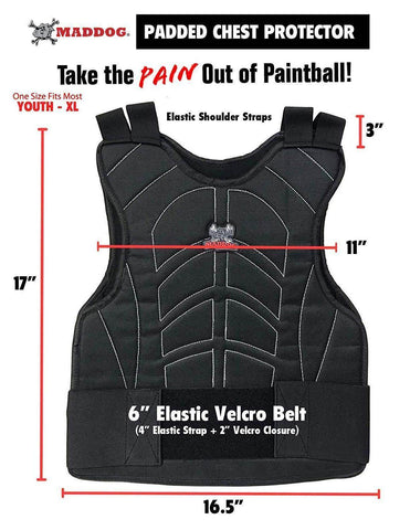 CLEARANCE - Maddog Padded Paintball & Airsoft Chest Protector- OPEN BOX - PaintballDeals.com