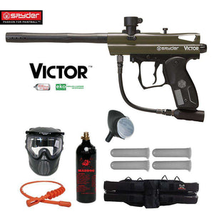 Spyder Victor Silver Paintball Gun Package