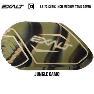 Exalt 68-72 Cubic Inch Compressed Air HPA Paintball Tank Cover - Jungle Camo - PaintballDeals.com