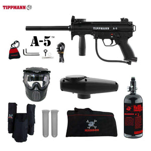 Tippmann A-5 HPA Paintball Gun Package