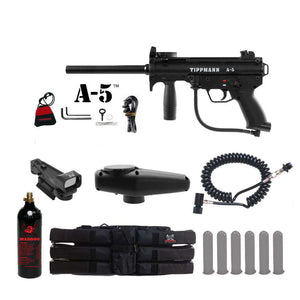 Tippmann A-5 Tactical Red Dot Paintball Gun Package