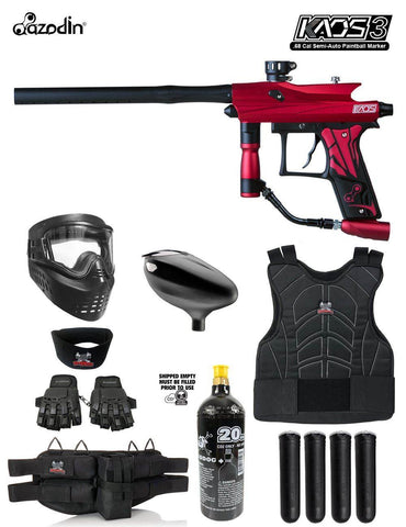 Maddog Azodin Kaos 3 Protective CO2 Paintball Gun Marker Starter Package