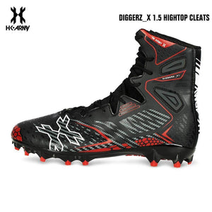 HK Army Diggerz_X 1.5 Hightop Paintball Cleats - Black/Red