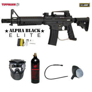 Tippmann U.S. Army Alpha Black Elite Tactical Bronze Paintball Gun Package