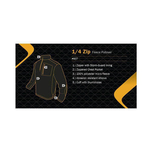 CLEARANCE - Condor Tactical Quarter Zip Pullover - Black - Medium - OPEN BOX