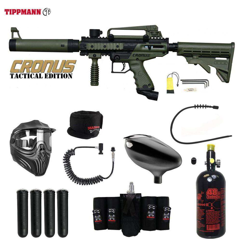 Tippmann Cronus Tactical Maddog Elite Remote HPA Paintball Gun Package