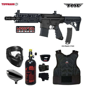 Tippmann TMC MAGFED Beginner Protective HPA Paintball Gun Package