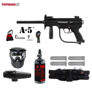 Tippmann A-5 Starter HPA Paintball Gun Package