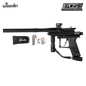 Azodin Kaos 3 Semi-Automatic .68 Caliber Paintball Gun Marker - Black / Black
